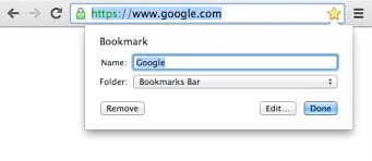 Bookmark in chrome
